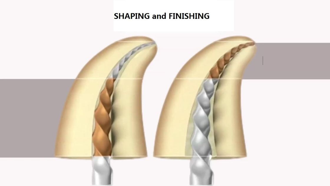 Heat Activation Dental Golden Pro-Taper Files High Flexibility For Curved Canals